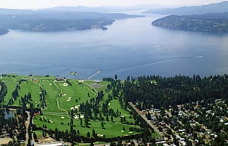 Spectacular View from Gotham Bay city in Lake Coeur d'Alene Idaho