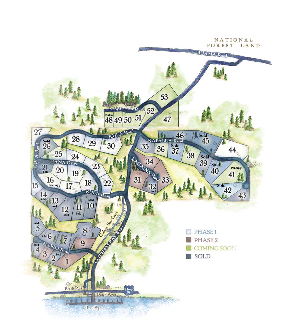 Prestigious Home Sites for Sale in Coeur d'Alene Lake, Idaho - The Preserve at Gotham Bay
